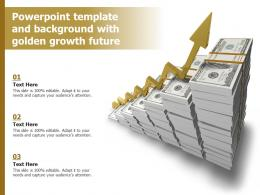 Powerpoint Template And Background With Golden Growth Future