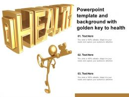 Powerpoint Template And Background With Golden Key To Health