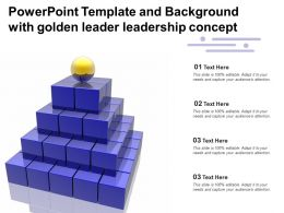 Powerpoint Template And Background With Golden Leader Leadership Concept