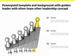 Powerpoint Template And Background With Golden Leader With Silver Team Other Leadership Concept