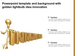 Powerpoint Template And Background With Golden Lightbulb Idea Innovation