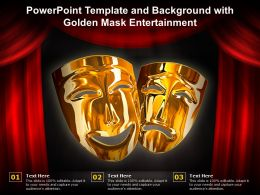 Powerpoint Template And Background With Golden Mask Entertainment