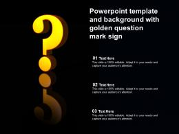Powerpoint Template And Background With Golden Question Mark Sign