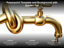 Powerpoint Template And Background With Golden Tap