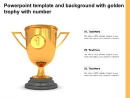 Powerpoint Template And Background With Golden Trophy With Number