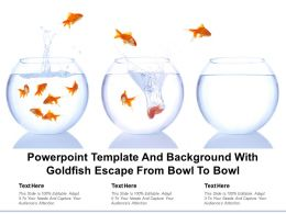 Powerpoint Template And Background With Goldfish Escape From Bowl To Bowl