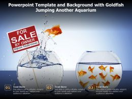 Powerpoint Template And Background With Goldfish Jumping Another Aquarium