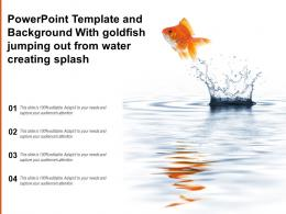 Powerpoint Template And Background With Goldfish Jumping Out From Water Creating Splash