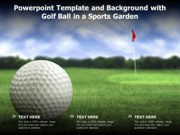 Powerpoint Template And Background With Golf Ball In A Sports Garden