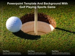 Powerpoint Template And Background With Golf Playing Sports Game