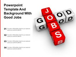 Powerpoint Template And Background With Good Jobs