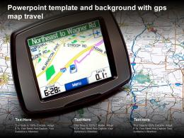 Powerpoint Template And Background With GPS Map Travel