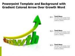 Powerpoint Template And Background With Gradient Colored Arrow Over Growth Word