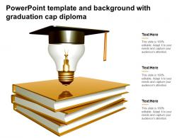 Powerpoint Template And Background With Graduation Cap Diploma