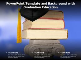 Powerpoint Template And Background With Graduation Education