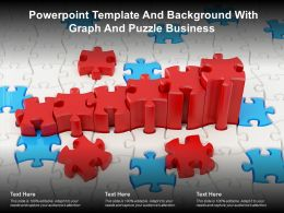Powerpoint Template And Background With Graph And Puzzle Business
