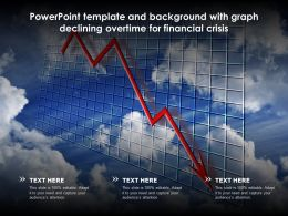 Powerpoint Template And Background With Graph Declining Overtime For Financial Crisis