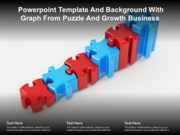 Powerpoint Template And Background With Graph From Puzzle And Growth Business
