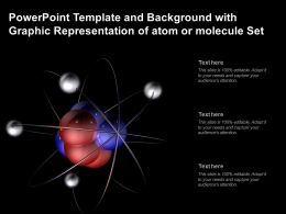 Powerpoint Template And Background With Graphic Representation Of Atom Or Molecule Set