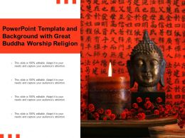 Powerpoint Template And Background With Great Buddha Worship Religion