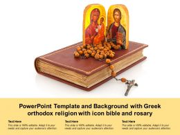 Powerpoint Template And Background With Greek Orthodox Religion With Icon Bible And Rosary
