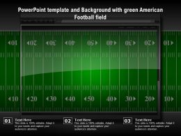 Powerpoint Template And Background With Green American Football Field