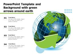 Powerpoint Template And Background With Green Arrows Around Earth