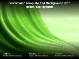Powerpoint Template And Background With Green Background