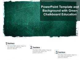 Powerpoint Template And Background With Green Chalkboard Education