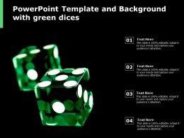 Powerpoint Template And Background With Green Dices
