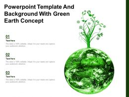 Powerpoint Template And Background With Green Earth Concept