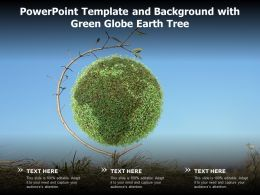 Powerpoint Template And Background With Green Globe Earth Tree