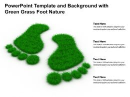 Powerpoint Template And Background With Green Grass Foot Nature