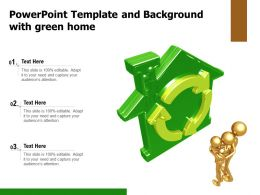 Powerpoint Template And Background With Green Home