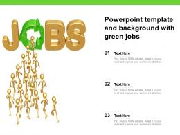 Powerpoint Template And Background With Green Jobs