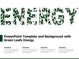 Powerpoint Template And Background With Green Leafs Energy