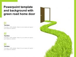 Powerpoint Template And Background With Green Road Home Door