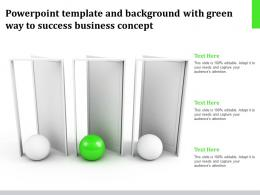Powerpoint Template And Background With Green Way To Success Business
