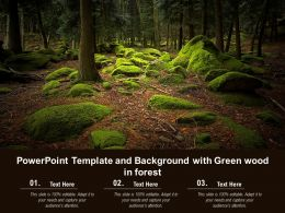 Powerpoint Template And Background With Green Wood In Forest