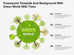 Powerpoint Template And Background With Green World With Trees