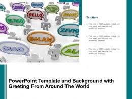 Powerpoint Template And Background With Greeting From Around The World