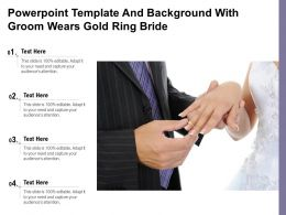Powerpoint Template And Background With Groom Wears Gold Ring Bride