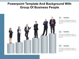 Powerpoint Template And Background With Group Of Business People