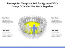 Powerpoint Template And Background With Group Of Leader For Work Together