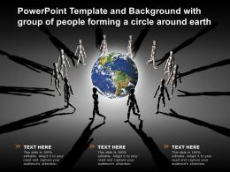Powerpoint Template And Background With Group Of People Forming A Circle Around Earth