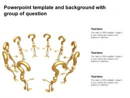 Powerpoint Template And Background With Group Of Question
