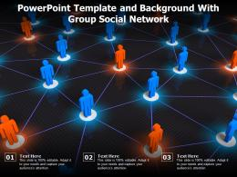Powerpoint Template And Background With Group Social Network