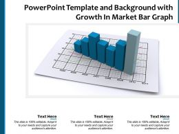 Powerpoint Template And Background With Growth In Market Bar Graph
