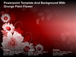 Powerpoint Template And Background With Grunge Paint Flower