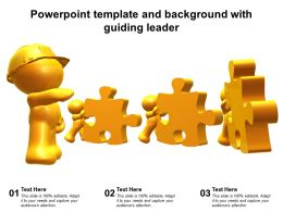 Powerpoint Template And Background With Guiding Leader